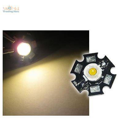 1x HighPower LED 1 Watt auf Star-Platine 350mA 1 W Hochleistungs Chip High-Power