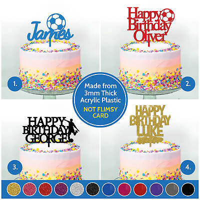 Groovy Personalised Birthday Cake Topper Decoration Football Boys Girls Personalised Birthday Cards Paralily Jamesorg