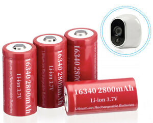 4x-16340-CR123A-3-7V-Li-Ion-Rechargeable-Battery-for-Arlo-Security-Camera-w-Case