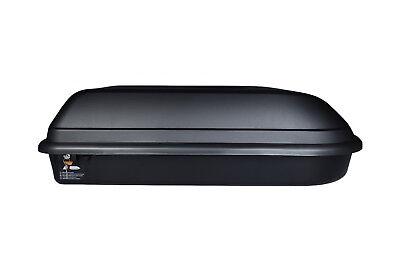 Box Baule Portabagagli Da Tetto 320 Litri Cam 1640 Grigio Chiaro Universale Originale Al 100%