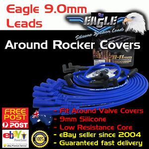 Eagle-9mm-Ignition-Spark-Plug-Leads-fits-Ford-Windsor-Around-Rocker-Cover-HEI