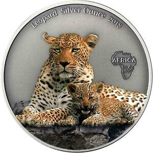 Kamerun-1000-Francs-2018-Leopard-Silver-Ounce-Antique-Finisch-Muenze-in-Farbe