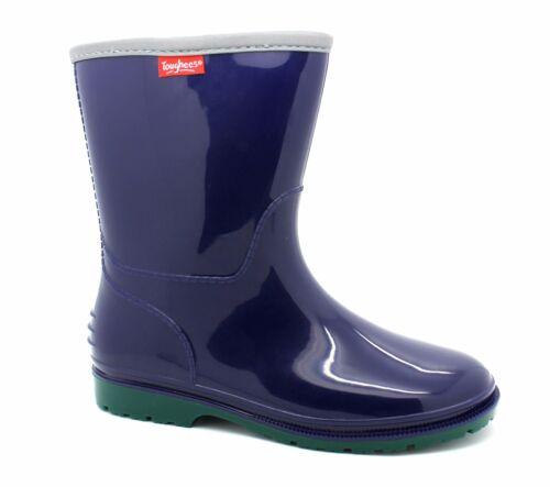 UK 13 /& Older Kids UK 2 Blue /& Green New Wellington Boots Toughees Boys UK 11