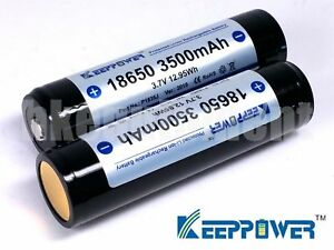 Keeppower-NCR18650GA-3500-mAh-Li-ion-Rechargeable-Protected-Battery-x2-Sanyo