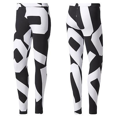 adidas Originals Bold Age Damen Leggings Freizeit Tight Leggins schwarz/weiß