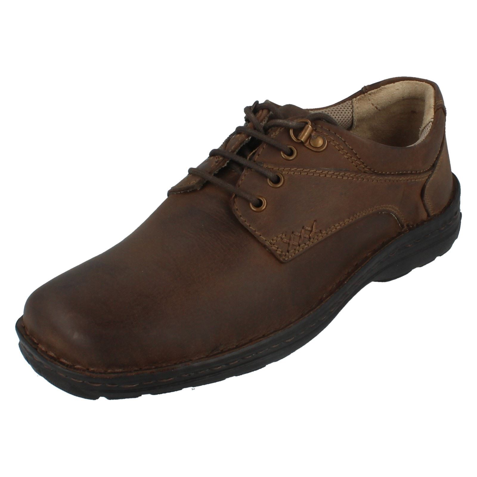 MENS HUSH PUPPIES GEOGRAPHY LACE UP BROWN LEATHER SMART FORMAL SHOES H104687