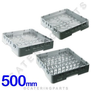 CAMBRO-3-x-QUALITY-DISHWASHER-RACK-SET-CUTLERY-GLASS-amp-PLATE-500-x-500-x-100
