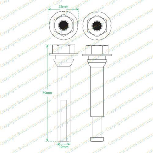 2x Frein Arrière Caliper Slider Pin Kit Guide Convient Nissan Qashqai 2014 /> BCF1458UX2