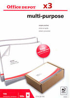 3x Papier Office Depot A4 100f = 300f Autocollant Je + Laser / Adhesif Adhesive