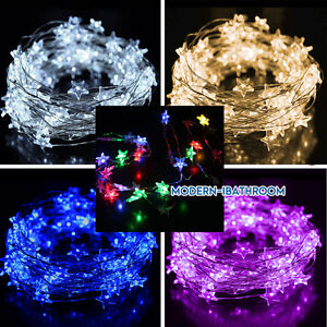 Image Is Loading Battery Operate LED Star Hanging String Copper Fairy
