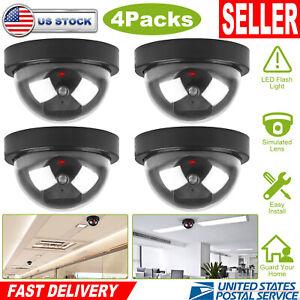2-4 X Dummy Fake Surveillance CCTV Security Dome Camera with LED Light Flashing