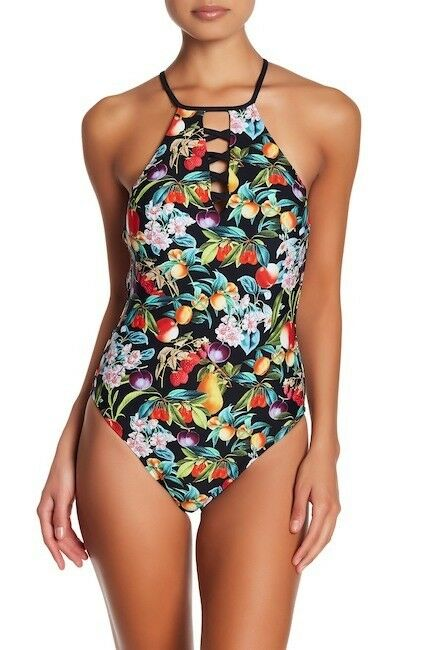 148 New Nanett Lepore Swim AMORE One-Piece Swimsuit Sz  Small  NL7LP12