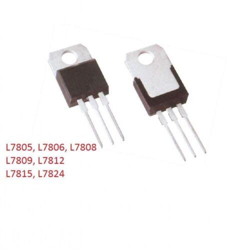 Free P/&P Voltage Regulator I TO-220 L7805 L7806 L7809 L7808 L7812 L7815 L7824