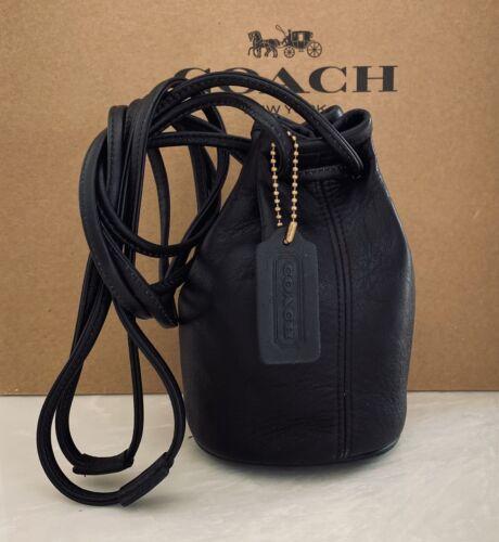 COACH VINTAGE BLACK LITTLETON BUCKET SWING BAG DRA