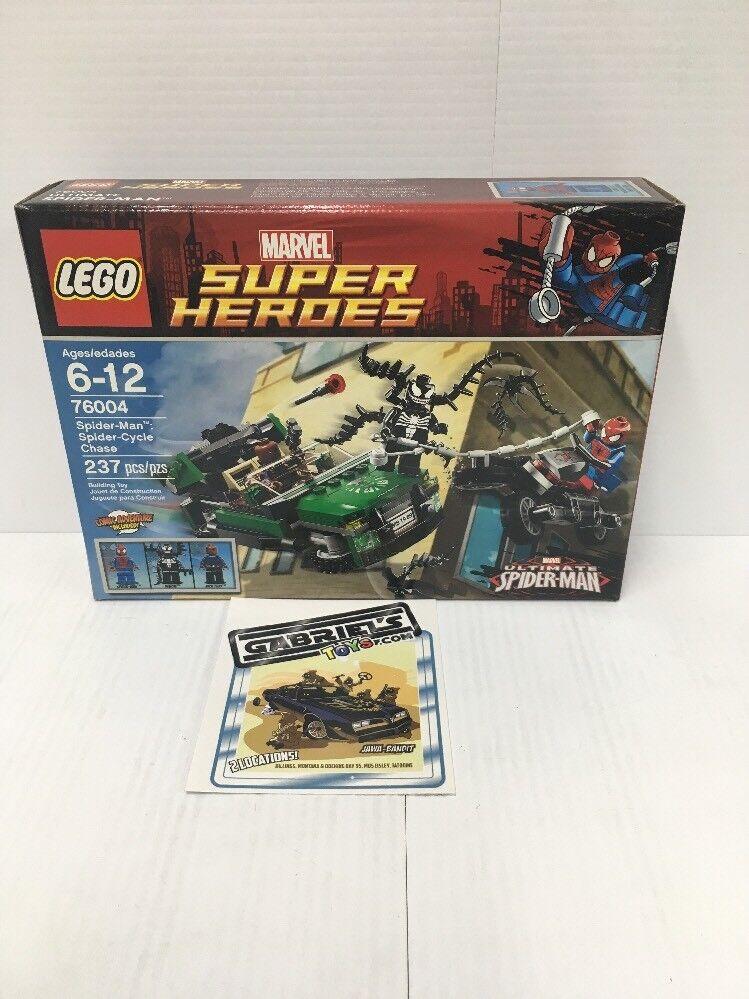 LEGO LEGO LEGO Marvel 76004 Spider-Man Spider Cycle Chase Venom New Sealed 35a523