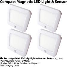 4x Rechargeable Magnétique Lumière Del & Capteur Mouvement – Placard / Armoire