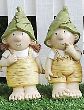 Garden Gnome Couple Lilly And Len Standing Gardening Ornaments Lawn  Decoration