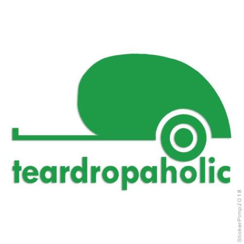 Tear Drop A Holic Camping Decal Sticker Choose Color Size #3584