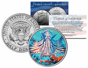 LIONFISH-Fish-Series-JFK-Kennedy-Half-Dollar-U-S-Colorized-Coin