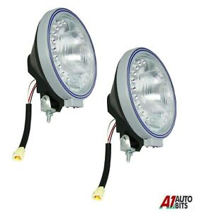 2x-Halogen-Truck-Spotlight-White-Fog-Spot-Led-Lights-Foglight-Lamp-Blue-Pencil