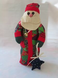 image is loading handmade fabric stuffed santa claus figure 13 inch - Stuffed Santa Claus