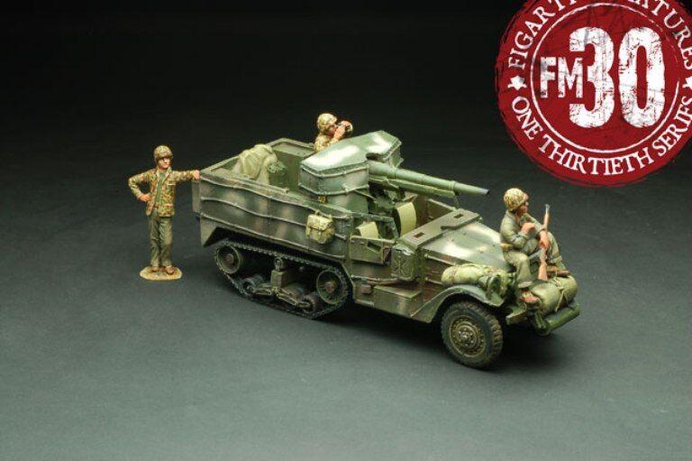 Figarti WW2 AMERICANO insaguinato Tarawa pta-001 USA M3 GMC 75mm metà pista Set