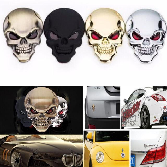 Cool Skull Skeleton Car/Motorcycle Decal Devil 3D Metal Sticker Emblem Badge Hot