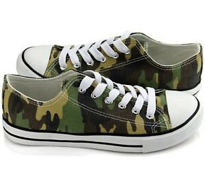 New-All-Star-Size-Womens-Shoes-Low-Top-Canvas-Suede-Sneakers-Unisex-Green-Camo