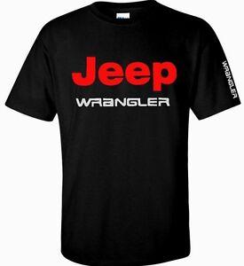 Jeep-Wrangler-T-Shirt-Car-Logo-Men-039-s-Black-White