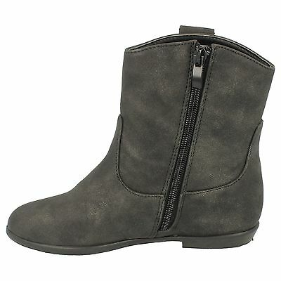 Girls Spot On! H4086 Synthetic Zip Up Boots