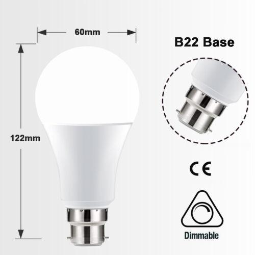 B22 Bayonet//E27 Edison 10W RGBW Cool//Warm White Colour Changing LED Light Bulb