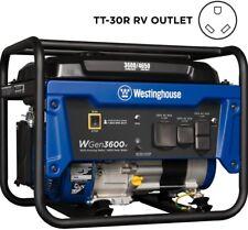 Westinghouse WGEN3600V Portable Generator 3600W Gasoline Powered 30 Amp RV  Ready