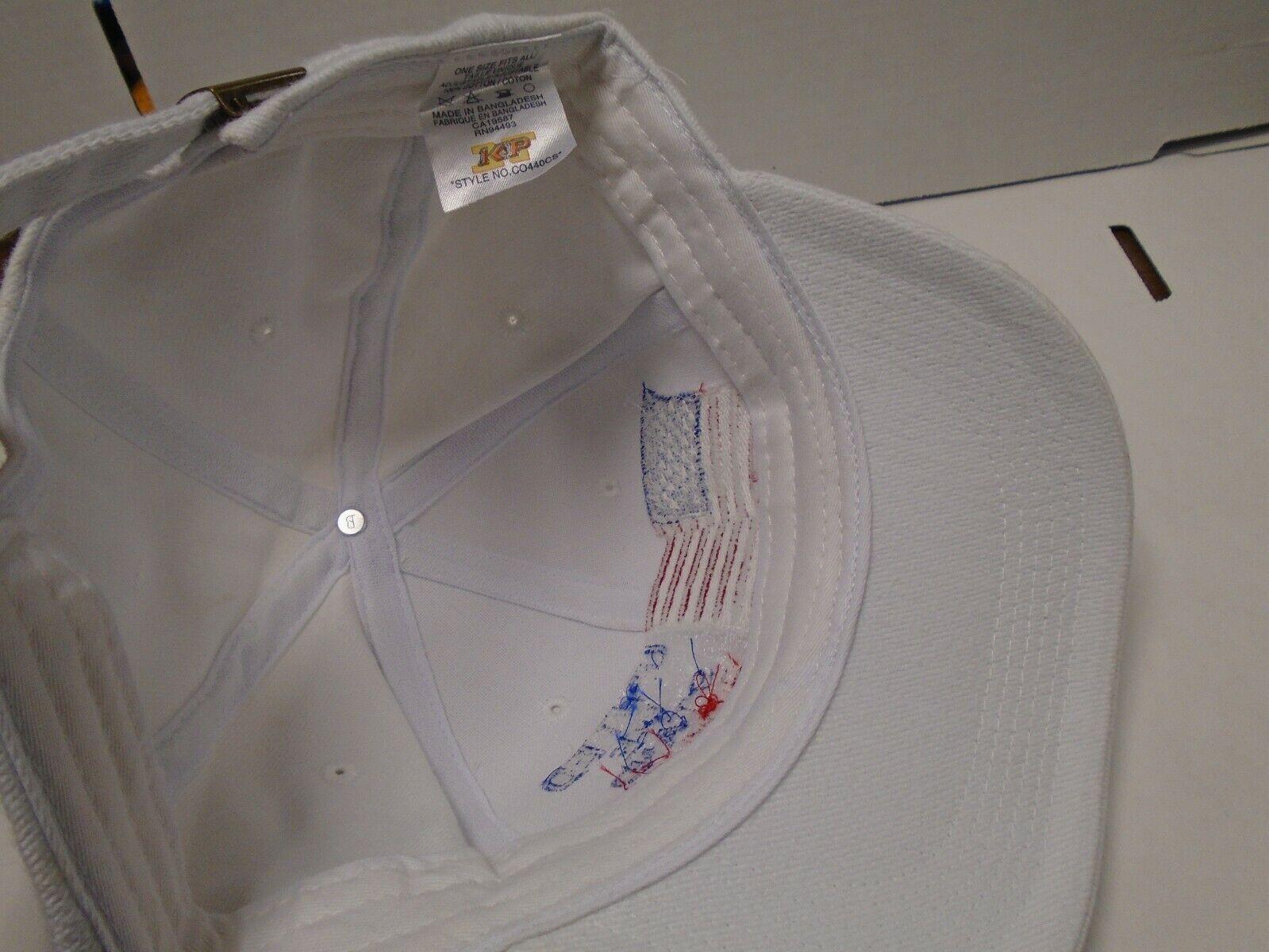United We Ständer 9/11/01 Weiß Verstellbar Einheitsgröße Hut 110819AMT