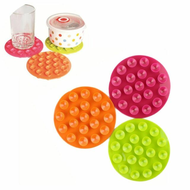 Suction Double Sided Anti Slip Cup Mat Tableware Sucker Bowl Placemat Coaster