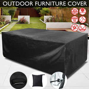 Rectangle Waterproof Patio Furniture Cover Outdoor Table Chairs