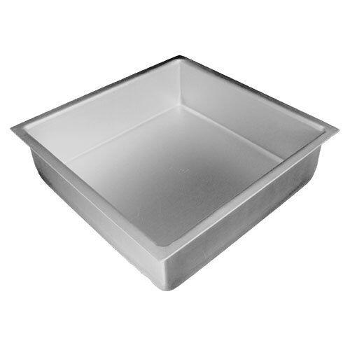"Fat Daddio/'s Anodized Aluminum Square Cake Pan 3/"" High"