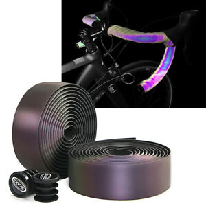 Bicycle Handlebar Tape Light Reflective Bike Bar Tape Road Bike Wrap Pu Leather