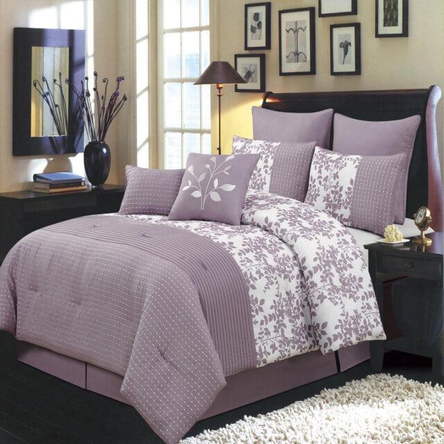 Beautiful Textured Blue 6-8pc Hudson Comforter Set
