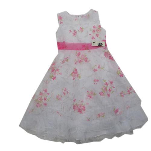 Eisend Robes Robe Débardeur Sans Manche Fete Mariage Fille Blanc//Rose Taille 104,116