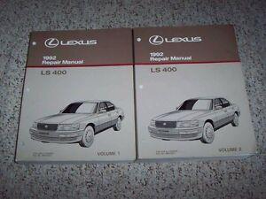 1992 lexus ls400 ls 400 factory workshop shop service repair manual rh ebay com Lexus SC300 Manual Lexus Manuals Shop