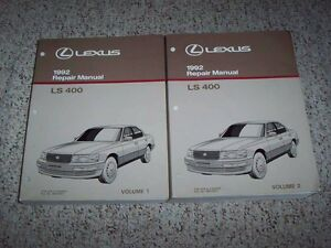 92 lexus ls400 owners manual enthusiast wiring diagrams u2022 rh rasalibre co Toyota SC300 Toyota LFA