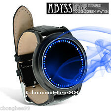 NUOVO LED Watch ABISSO giapponese stile ispirato Luce Blu Touch Screen Unisex Nero