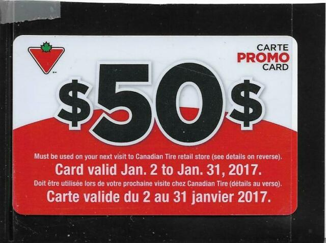 Canadian Tire $50 Promo Card # 13