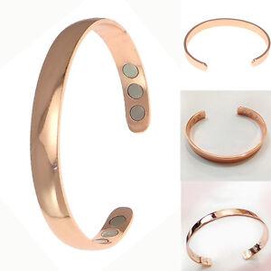 Damen-Herren-Magnetisch-therapie-kupfer-Armband-Armreif-Rosa-Gold-Bracelet