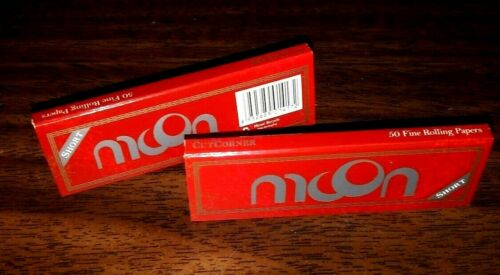 Great Quality at Super Low Prices! 2 Packs Moon Red Cut Corners Rolling Papers