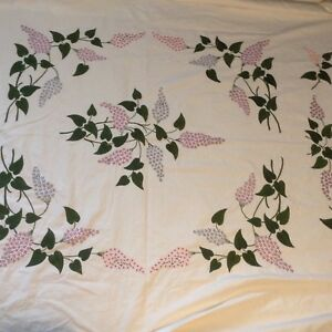 Lovely-HAND-EMBROIDERED-COVERLET-BEDSPREAD-Make-into-Duvet-Quilt-COTTON-77x74-034