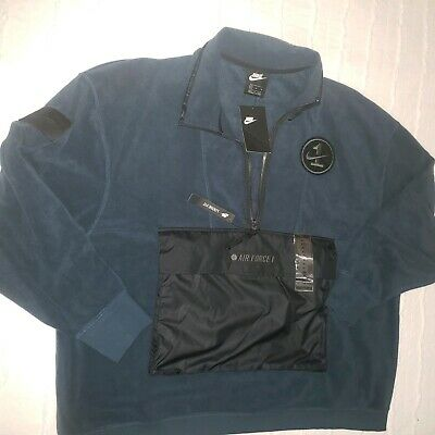 Nike Sportswear AF1 Air Force 1 Half Zip Fleece Sweater AJ0801 454 XL | eBay