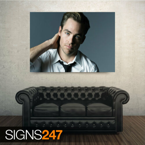 Celebrity Poster Picture Poster Print Art A0 A1 A2 A3 A4 CHRIS PINE 2099