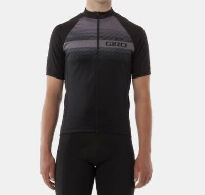 Giro Men/'s Chrono Sport Jersey Size Medium Black Gray New