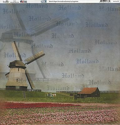 Sugar Tree - Holland Windmill Scrapbooking  Paper - 01768
